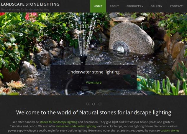 Corporate website decorative and art lightning